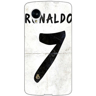 Jugaaduu Real Madrid Ronaldo Back Cover Case For Google Nexus 5 - J40598