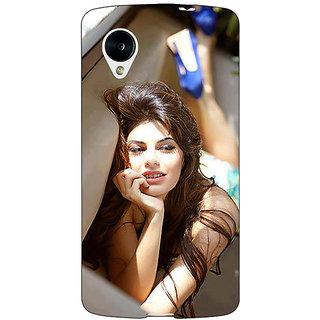 Jugaaduu Bollywood Superstar Jacqueline Fernandez Back Cover Case For Google Nexus 5 - J40996