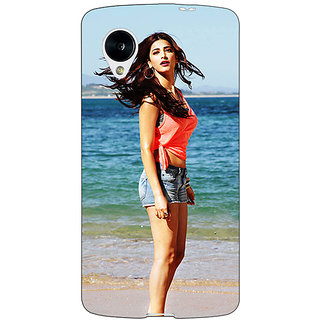 Jugaaduu Bollywood Superstar Shruti Hassan Back Cover Case For Google Nexus 5 - J41013