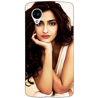 Jugaaduu Bollywood Superstar Sonam Kapoor Back Cover Case For Google Nexus 5 - J41016