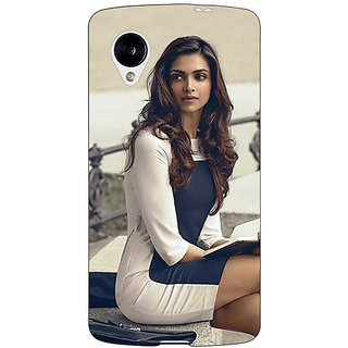 Jugaaduu Bollywood Superstar Deepika Padukone Back Cover Case For Google Nexus 5 - J41019