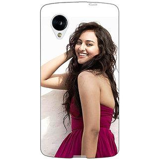 Jugaaduu Bollywood Superstar Sonakshi Sinha Back Cover Case For Google Nexus 5 - J41020