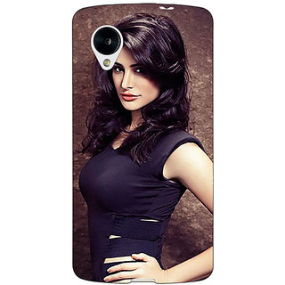 Jugaaduu Bollywood Superstar Nargis Fakhri Back Cover Case For Google Nexus 5 - J41022