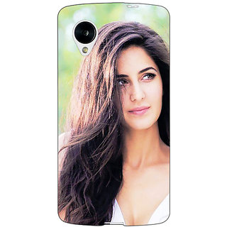 Jugaaduu Bollywood Superstar Katrina Kaif Back Cover Case For Google Nexus 5 - J41023