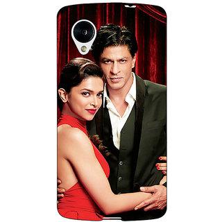 Jugaaduu Bollywood Superstar Deepika Padukone Shahrukh Khan Back Cover Case For Google Nexus 5 - J41024