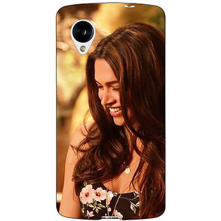 Jugaaduu Bollywood Superstar Deepika Padukone Back Cover Case For Google Nexus 5 - J41032