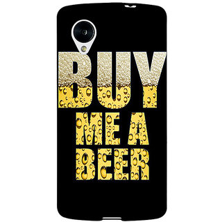 Jugaaduu Beer Quote Back Cover Case For Google Nexus 5 - J41224