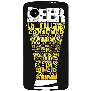 Jugaaduu Beer Quote Back Cover Case For Google Nexus 5 - J41227