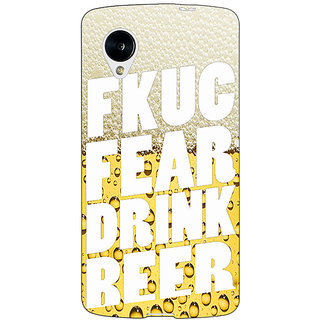 Jugaaduu Beer Quote Back Cover Case For Google Nexus 5 - J41229
