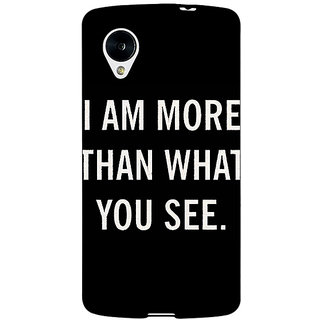 Jugaaduu Quote Back Cover Case For Google Nexus 5 - J41230