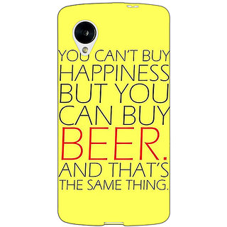 Jugaaduu Beer Quote Back Cover Case For Google Nexus 5 - J41231