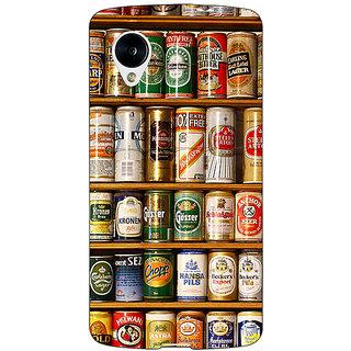 Jugaaduu Beer Cans Back Cover Case For Google Nexus 5 - J41233