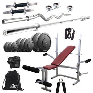 Buy Headly 38kg Home Gym 14 Dumbbells Star Nut Imported 6 In 1