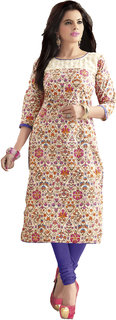 Khoobee Presents Cotton Stylish Kurti(Multi,Pink) KTKVKEN5086 KTKVKEN5086