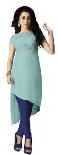 Khoobee Presents Georgette Stylish Kurti(Sky Blue) KTKVKAD5097 KTKVKAD5097
