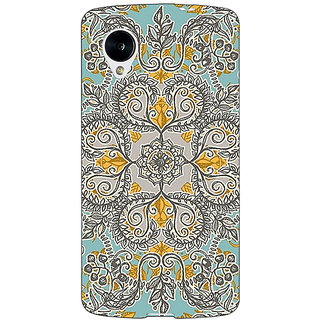 Jugaaduu Vintage Floral Pattern Back Cover Case For Google Nexus 5 - J40262