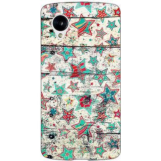 Jugaaduu Funky Stars Pattern Back Cover Case For Google Nexus 5 - J40264