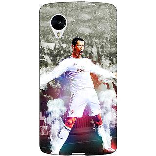 Jugaaduu Cristiano Ronaldo Real Madrid Back Cover Case For Google Nexus 5 - J40305