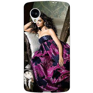 Jugaaduu Bollywood Superstar Deepika Padukone Back Cover Case For Google Nexus 5 - J41037