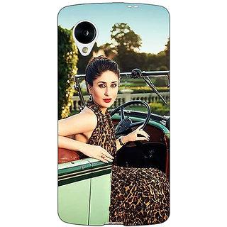 Jugaaduu Bollywood Superstar Kareena Kapoor Back Cover Case For Google Nexus 5 - J41054