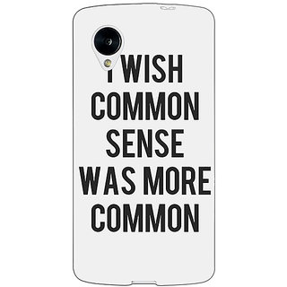 Jugaaduu Quote Back Cover Case For Google Nexus 5 - J41294