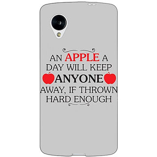 Jugaaduu Apple Quote Back Cover Case For Google Nexus 5 - J41313
