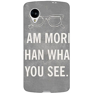 Jugaaduu Quote Back Cover Case For Google Nexus 5 - J41316