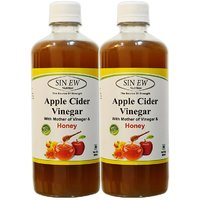 Sinew Apple Cider Vinegar With Honey 500 Ml (Pack Of 2)