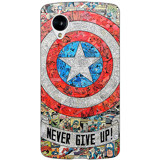 Jugaaduu Superheroes Captain America Back Cover Case For Google Nexus 5 - J40334