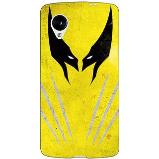 Jugaaduu Superheroes Wolverine Back Cover Case For Google Nexus 5 - J40336