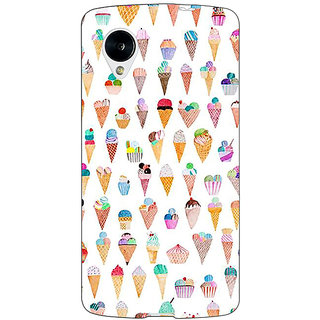 Jugaaduu Ice cream Doodle Back Cover Case For Google Nexus 5 - J41358