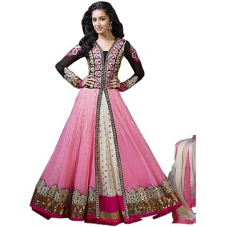 Saryu E Fabric Anarkali Gown For Women Color Pink