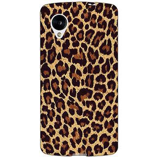 Jugaaduu Leopard Cheetah Pattern Back Cover Case For Google Nexus 5 - J41387
