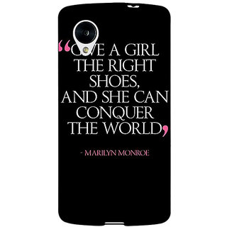 Jugaaduu Quote Back Cover Case For Google Nexus 5 - J41470