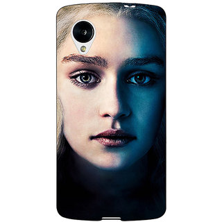 Jugaaduu Game Of Thrones GOT Khaleesi Daenerys Targaryen Back Cover Case For Google Nexus 5 - J41551