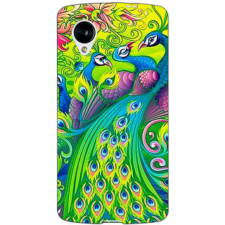 Jugaaduu Paisley Beautiful Peacock Back Cover Case For Google Nexus 5 - J41596