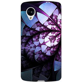 Jugaaduu Abstract Flower Pattern Back Cover Case For Google Nexus 5 - J41505