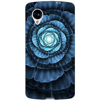 Jugaaduu Abstract Flower Pattern Back Cover Case For Google Nexus 5 - J41517
