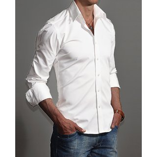 GHPC 100 Cotton Stand Collar Casual Shirt
