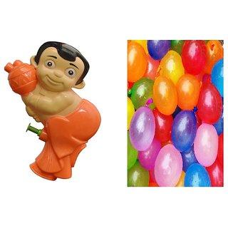 Holi Pichkari + Water Balloons (100 pcs) Combo