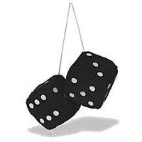 S4d Car 3D Dice Hanging Perfume Set Of 2 Pcs.white,black,red,green Any 2.