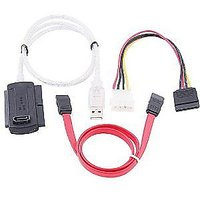 USB 2.0 TO SATA / IDE CONVERTER CABLE WITH SATA DATA & POWER CABLE - 2499012