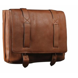 Genuine leather office cum laptop bag