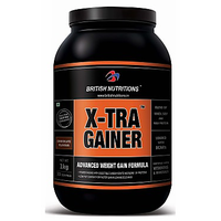 British Nutrition X-Tra Gainer - 2.5 Kgs - Chocolate