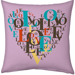 Little India Mauve Color Designer Romantic Printed Cushion 234