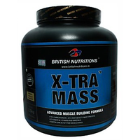 British Nutritions X-Tra Mass - 2.5 Kg  Vanila