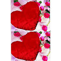 Shop 24x7-Heart Shape Cushion Red Set Of 2
