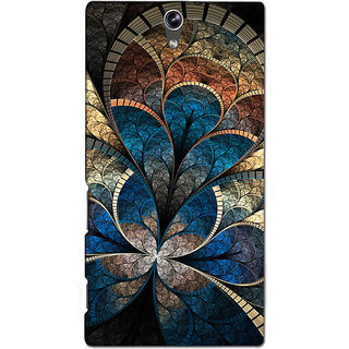 Instyler Premium Digital Printed 3D Back Cover For Sony C5 Dual 3DSONYC5DDS-10272