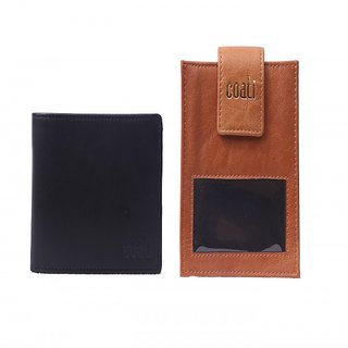 coati Men Black Genuine Leather Wallet