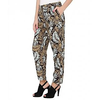 TAQ - The Apparel Quotients Lisa Printed Viscose Pants with 2 Front Pockets